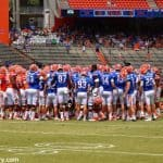Florida Gators Football Orange and Blue Teams during Debut, UF, Gainesville, Florida