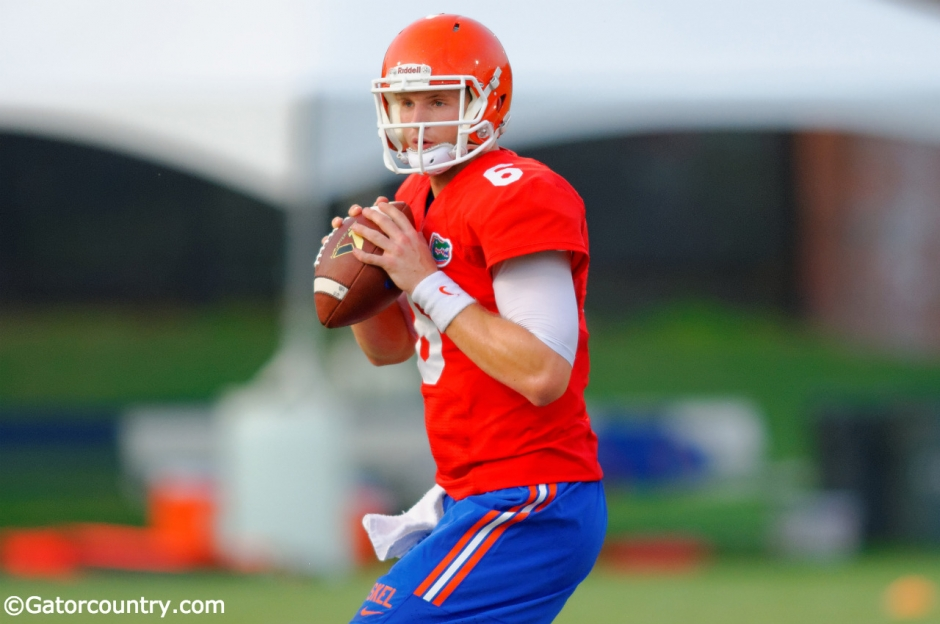 Florida Gators quarterback Jeff Driskel has impressed Kurt Roper.