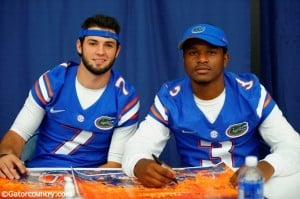 Will Grier and Treon Harris are battling for the backup job behind Jeff Driskel. / Photo by David Bowie