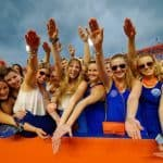 Florida Gators Football Student Fans Gator Chomp Florida vs Idaho 2014