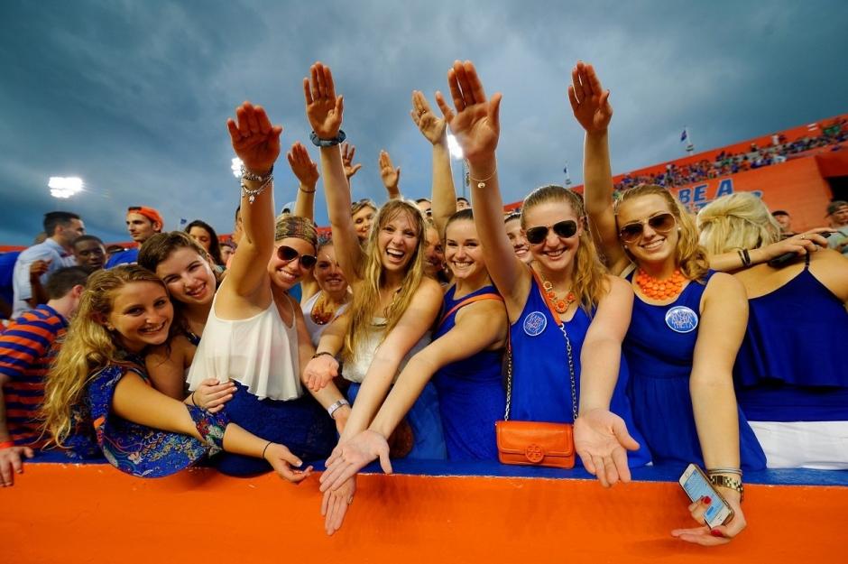 Florida Gators Football Student Fans Gator Chomp Florida vs Idaho 2014