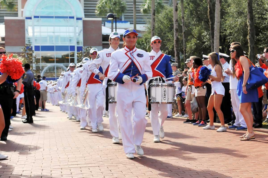 Florida Gators' Band Walk, University of Florida Fan Day - Gainesville, Florida