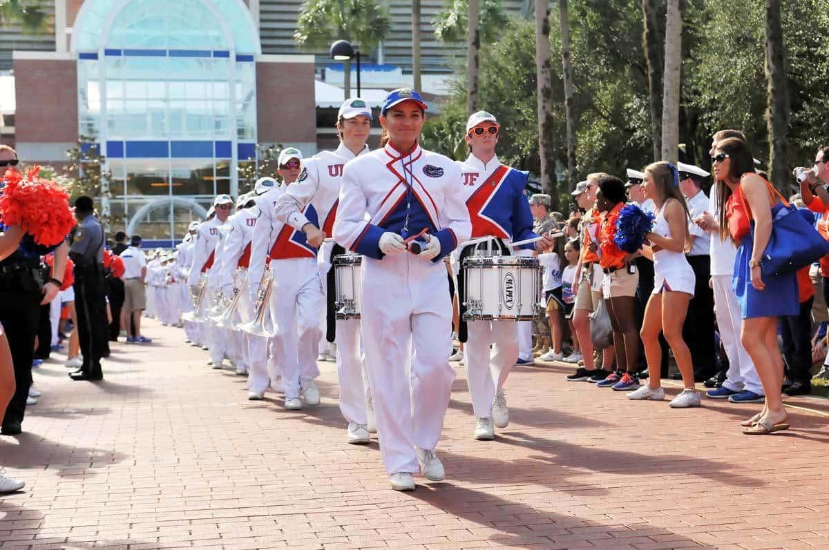 Florida Gators' Band Walk, University of Florida Fan Day - Gainesville, Florida