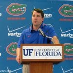 Will Muschamp is confident about his football team heading into the 2014 season. / Photo by Nick de la Torre