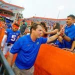 florida-gators-florida-football-2014-eastern-michigan-the-swamp-after-game-celebration-will-muschamp-shaking_090614_Bowie
