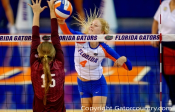 Florida Gators Volleyball sweeps Alabama State