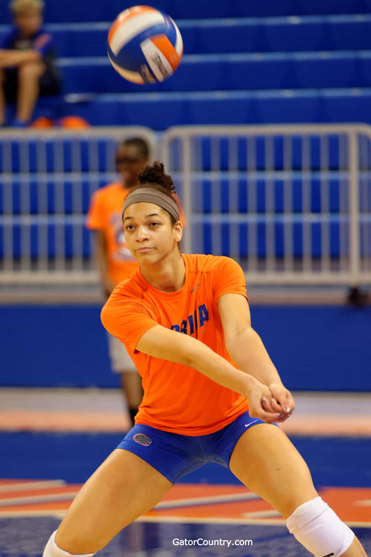 Florida Gators Volleyball Right Side Hitter Alex Holston warms up in Stephen C. O'Connell Center-Florida Gators Volleyball-1280x1923
