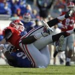 Nov 1, 2014; Jacksonville, FL, USA; Florida Gators defensive lineman Bryan Cox Jr. (94) sacks Georgia Bulldogs quarterback Hutson Mason (14) during the first half at EverBank Field. Mandatory Credit: Kim Klement-USA TODAY Sports
