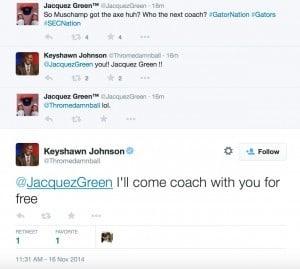 Jacquez Green and Keyshawn Johnson