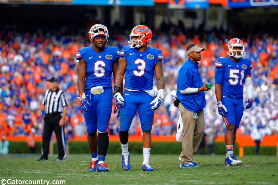Antonio Morrison, Dante Fowler Jr., Ben Hill Griffin Stadium, Gainesville, Florida
