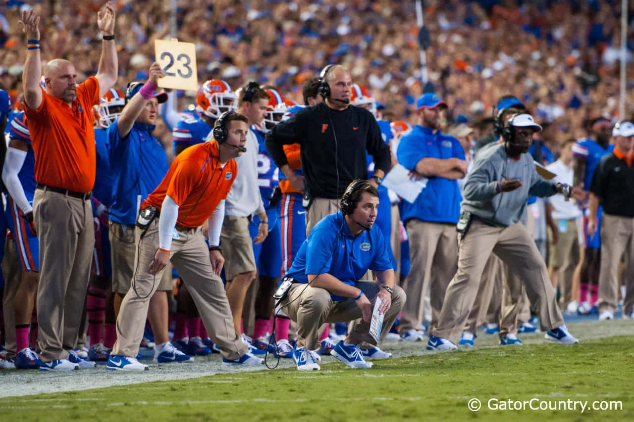 Muschamp met with the media a day after the announcement he would step down at the end of the season. Gator Country photo by David Bowie.