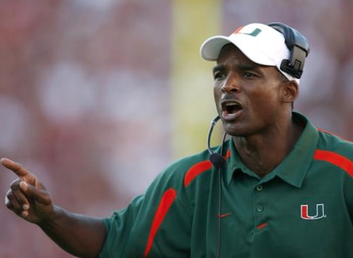 Randy Shannon while head coaching Miami/USA Today Sports, Jason Parkhurst
