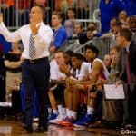 Billy Donovan and players react to a play during the Gators loss to the Tigers 79-61 on Tuesday.
