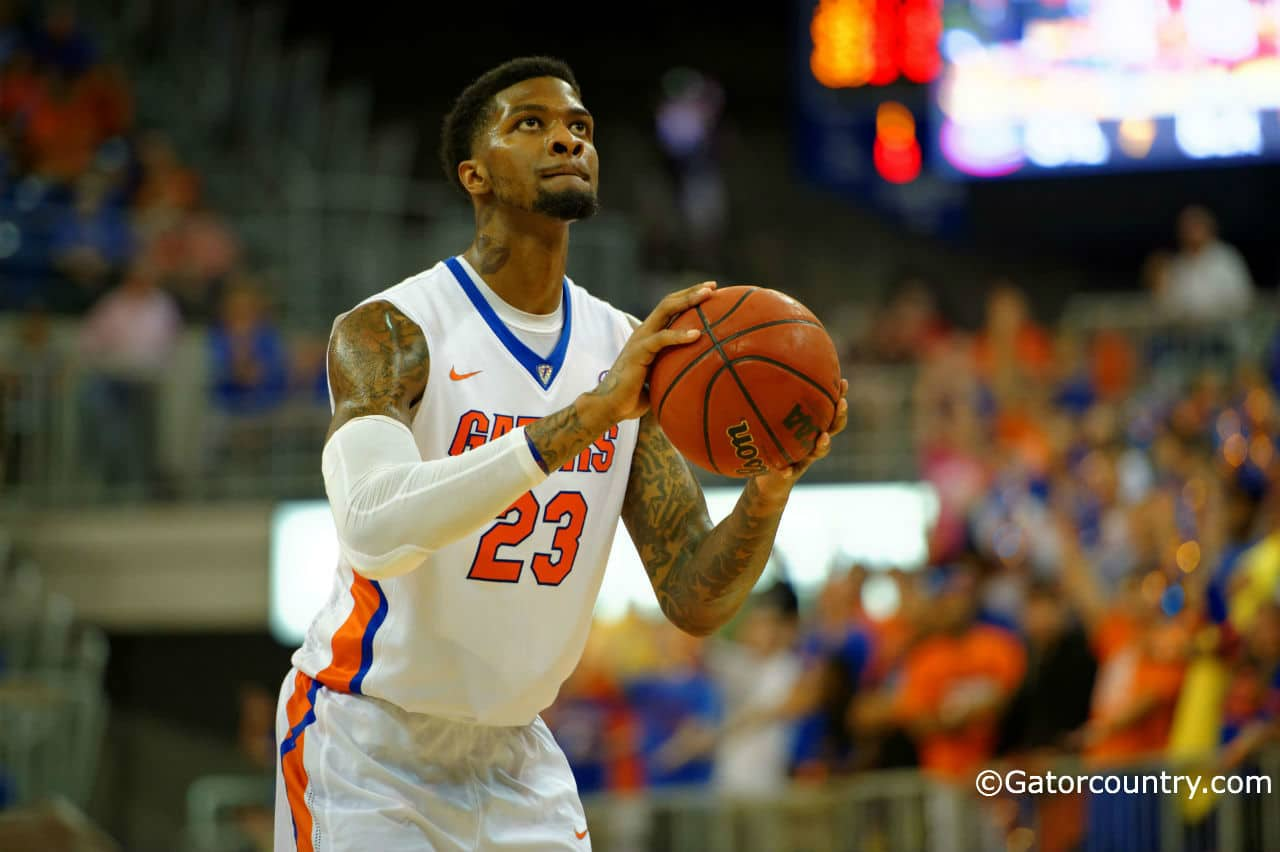 Chris Walker is managing at developing his basketball stature and putting expectations to the side./ Gatorcountry photo by David Bowie.