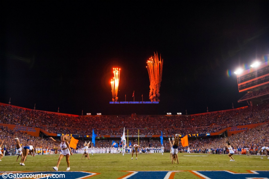 Florida Gators Fireworks In the Swamp Ben Hill Griffin Stadium-Florida Gators Football-Florida Gators Recruiting-1280x852