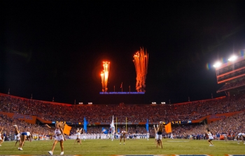 Florida Gators straight ahead and to the rear September 2nd