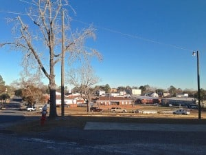 Downtown Bonifay seen from the town's middle school/Kassidy Hill