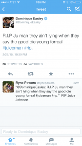Former Gators football player Dominique Easley mourns Chris Johnson.