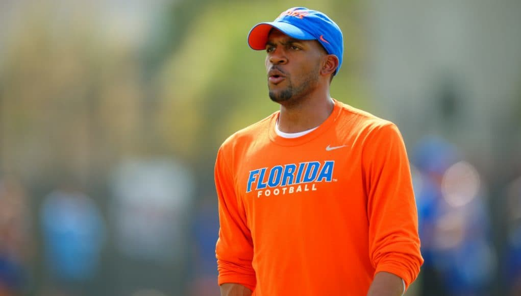 Florida Gators receiver coach Kerry Dixon