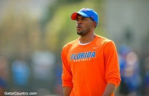 Florida Gators receiver coach Kerry Dixon