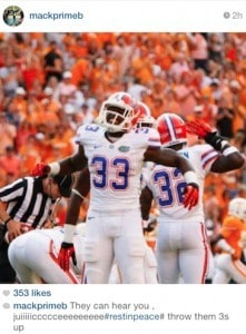 Former Gators football player Mack Brown mourns Chris Johnson.