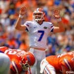 Florida Gators quarterback Will Grier during the Orange and Blue game in 2015- 1280x852