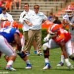 Jim McElwain, florida gators football, ben hill griffin stadium, gainesville, florida