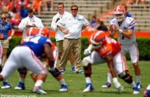 Jim McElwain, florida gators football, ben hill griffin stadium, gainesville, florida