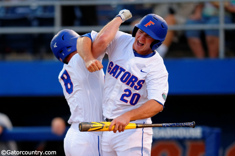 pete alonso, harrison bader, alfred a mckethan stadium, university of florida, gainesville, florida