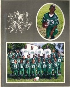 A young Dante Fowler Jr. with his little league football team/Photo courtesy of Lanora Fowler