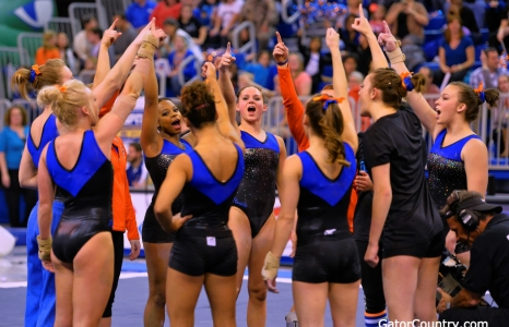 Florida Gators gymnastics defeats Arkansas at home