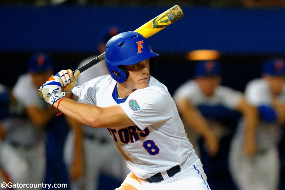 Harrison Bader, Florida Gators, Florida Gators baseball, McKethan Stadium, Gainesville, Florida