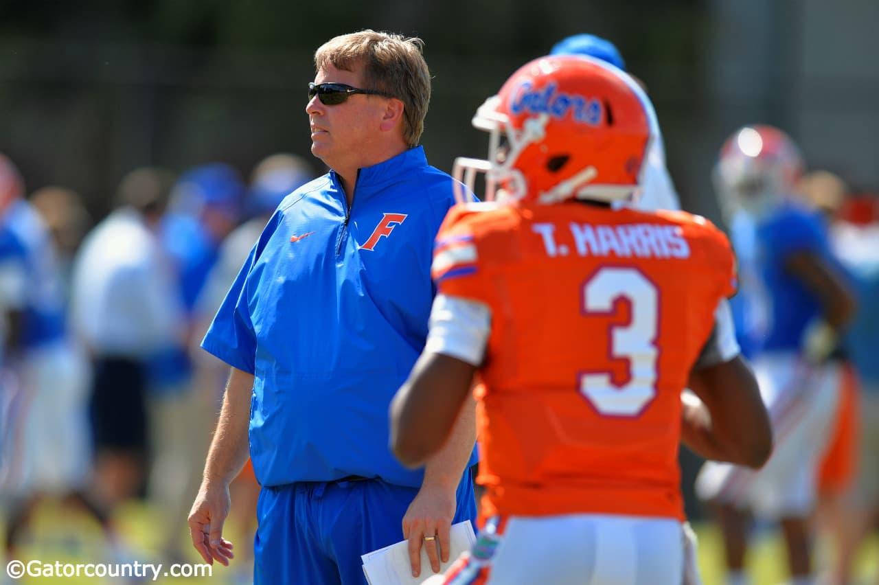 Florida Gators quarterback Treon Harris with head coach Jim McElwain= 1280x852- Florida Gators Football