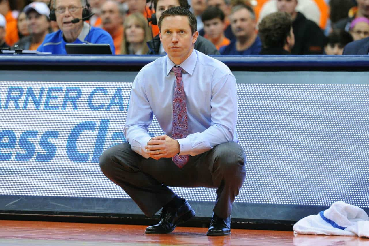 LA Tech coach Michael White looks on from the sidelines against Syracuse/Mandatory Credit: Rich Barnes-USA TODAY Sports