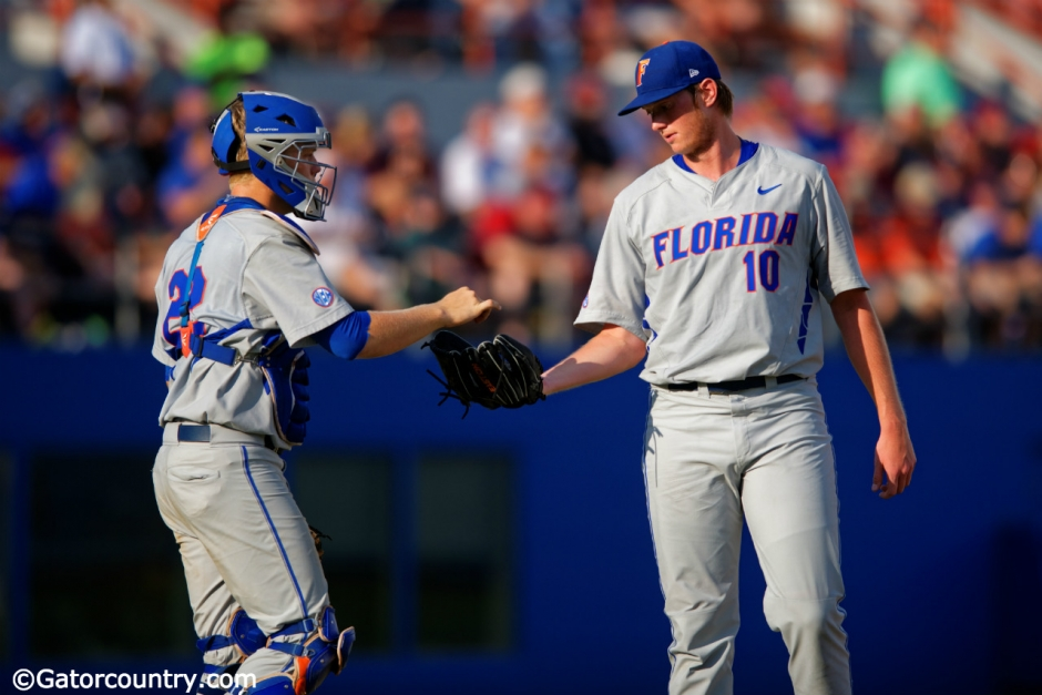 A.J. Puk, JJ Schwarz, Florida Gators, McKethan Stadium, University of Florida, Gainesville, Florida