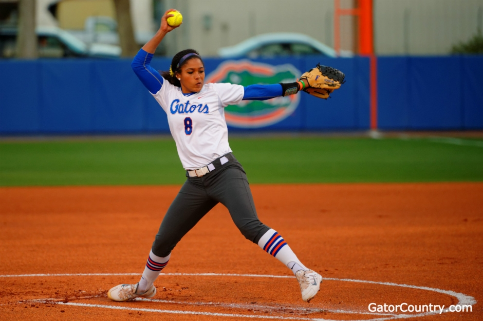 Aleshia Ocasio - Florida Gators Women's Softball Pitcher Florida Softball vs Michigan 2015