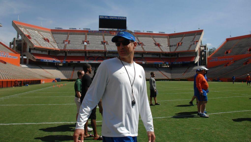 Doug Nussmeier, University of Florida, Florida Gators, Gainesville, Florida, Ben Hill Griffin Stadium