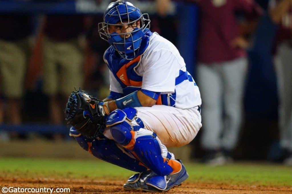 Florida-gators-florida-baseball-fsu-seminoles-march-17th-2015-florida-gators-catcher-mike-rivera-look-to-dug-1024x681