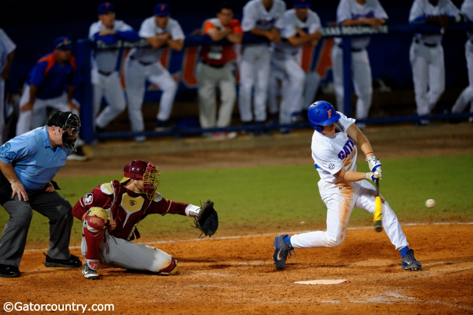Harrison Bader, Florida Gators baseball, McKethan Stadium, Gainesville, Florida, University of Florida