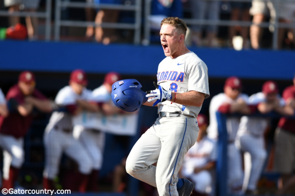 Harrison Bader, Florida Gators baseball, Alfred A. McKethan Stadium, Gainesville, Florida, University of Florida