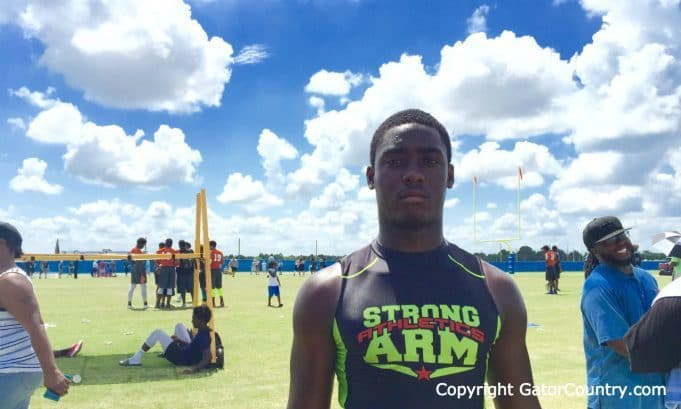 Florida Gators linebacker commit Vosean Joseph at IMG 7-on-7 tournament- 1280x769- Florida Gators Recruiting