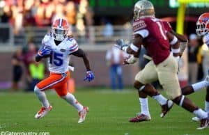 Florida Gators receiver Brandon Powell running the ball against Florida State in 2014- 1280x852- Florida Gators Football