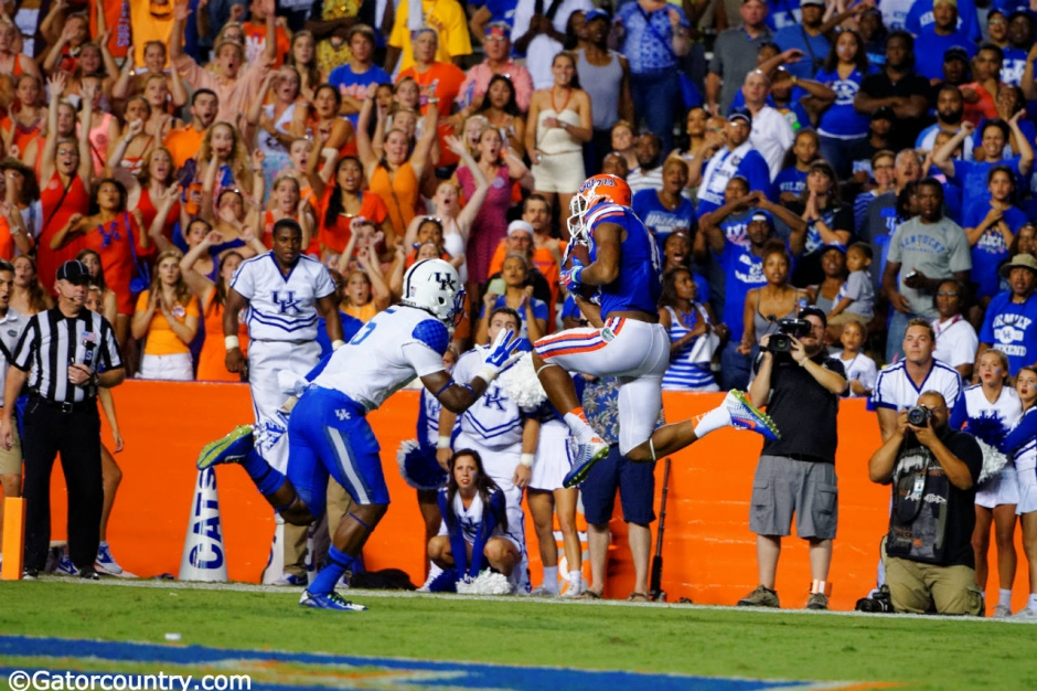 Florida Gators receiver Demarcus Robinson catches the game winning touchdown against the Kentucky Wildcats in 2014- 1280x852- Florida Gators Football