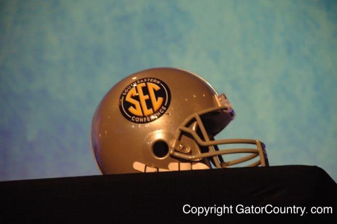 The SEC Helmet on display SEC Media Days in July 2015- 1280x850- Florida Gators Football