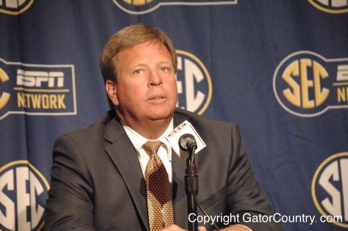 Florida Gators head coach Jim McElwain speaks at SEC Media Days 2015- 1280x850- Florida Gators Football