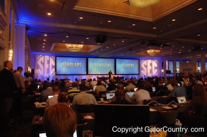 SEC Media Days in Birmingham, Alabama on July 16th, 2015- 1280x850- Florida Gators Football