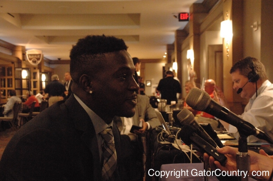 Florida Gators receiver Brandon Powell doing interviews at SEC Media Days in 2015- 1280x850- Florida Gators Football
