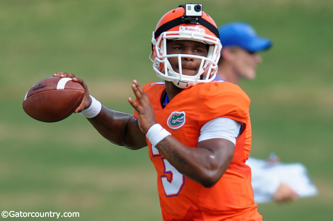 Florida Gators quarterback Treon Harris wearing the go pro in practice-1280x851