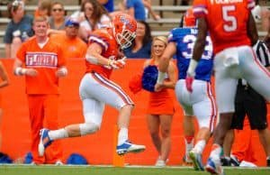 Case Harrison Touchdown In Ben Hill Griffin Stadium Orange and Blue Debut Florida Gators Football 1280x852