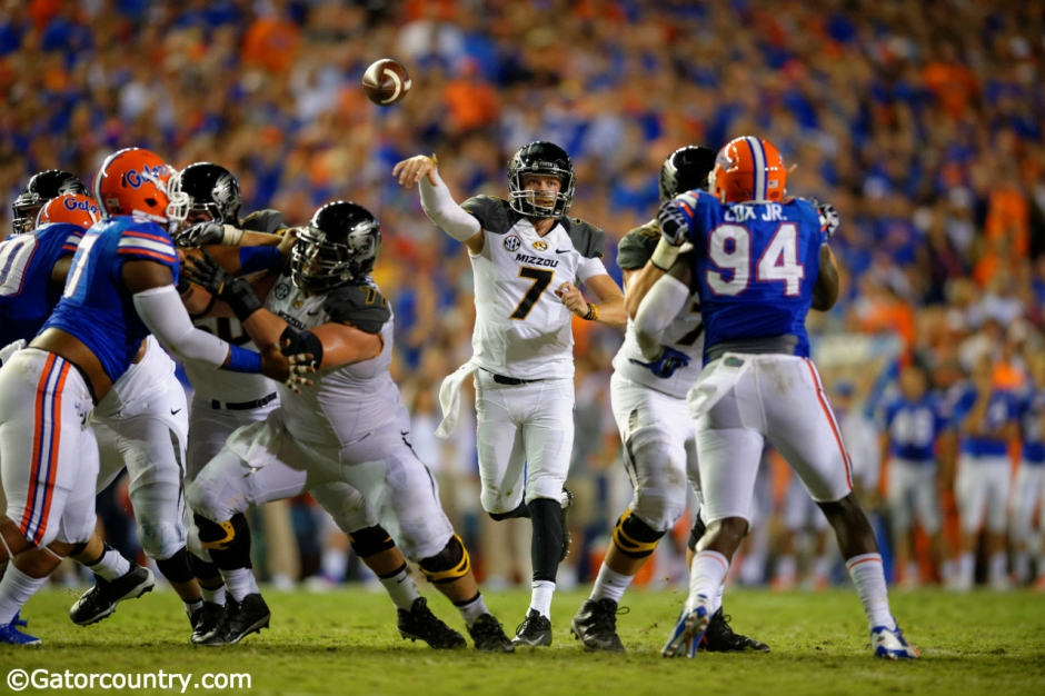 Florida Gators defend a pass against the Missouri Tigers in 2014- 1280x852- Florida Gators Football